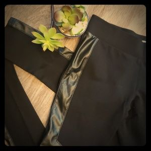 Parasuco Skinny Black Leather Look Leggings SM